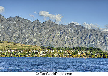 Lake Wakatipu and the Remarkables from Remarkables Park,...