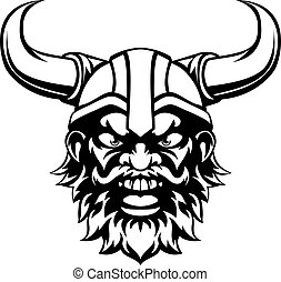 Cartoon Viking Mascot