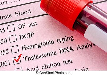 Thalassemia, ADN, teste