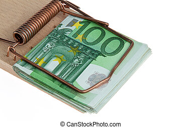 Mousetrap with bills Debt trap - Mousetrap with bills...