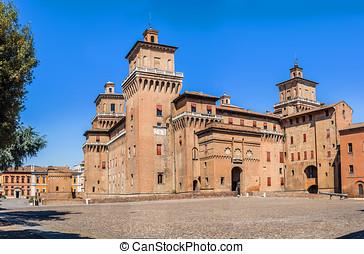 Estense castle of Ferrara. Emilia-Romagna. Italy. - Estense...