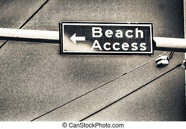 Beach Access street sign.