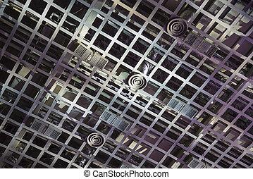 The ceiling air-conditioning of stadium