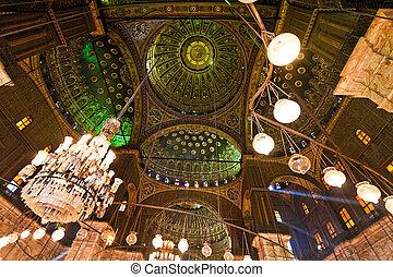 Egypt, Cairo. Mohammed Ali Mosque. Inside.
