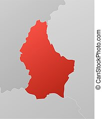 Map - Luxembourg - Map of Luxembourg with the provinces and...