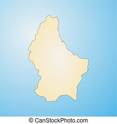 Map - Luxembourg - Map of Luxembourg, filled with a radial...