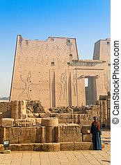 Egypt, Edfu, Horus Temple - Africa, Egypt, Edfu, Horus...