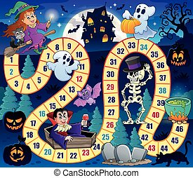 Board game with Halloween