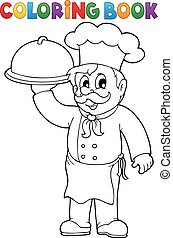Coloring book chef