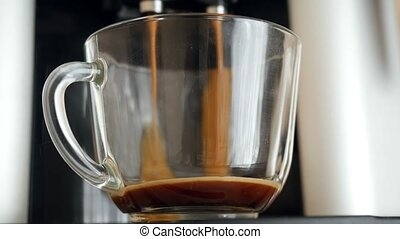 coffe dispenser with cup of coffee Timelapse speed up -...