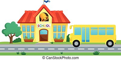 School and bus theme