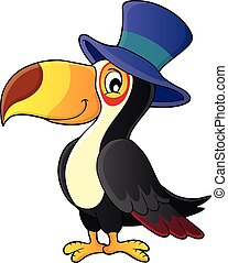 Toucan with hat