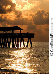 Fishing off of a Pier