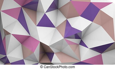 Polygonal 3D surface chaotic waving loopable - Polygonal 3D...