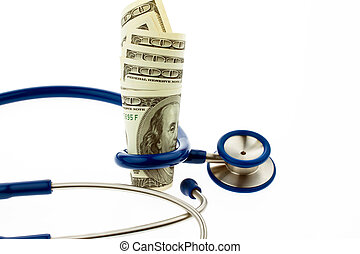 Health costs F??? ? r with dollar bills - Costs of health...
