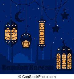 Ramadan Kareem - Islamic Holy Nights, Theme Design...