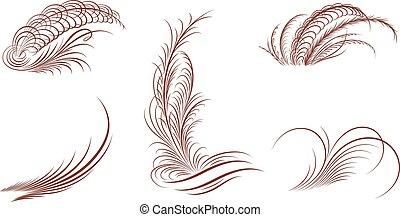 Floral ornaments,vector - Floral ornaments,line art
