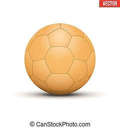 Handball Ball Orange Sport Equipment Editable Vector...