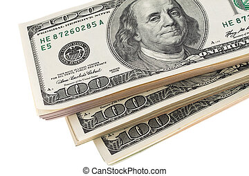 U.S. dollars banknotes - Many dollars are notes to each...
