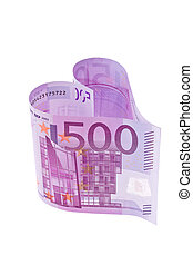 Euro bank note in the form of a heart