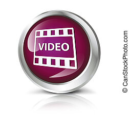 button with movie symbol.