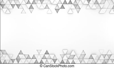 White extruded triangles 3D render loopable animation -...