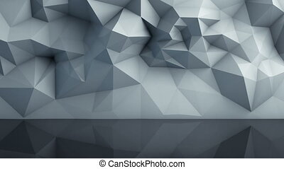 Polygonal surface with reflection loopable 3D render -...