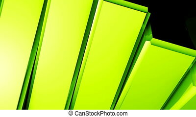 Abstract background of rotation steel boxes with reflecting....