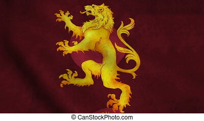 Realistic Ultra-HD flag of the Lion waving in the wind....