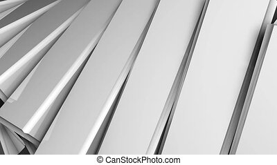 Abstract background of rotation steel boxes with reflecting