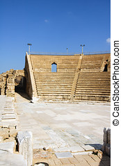 The amphitheater, Caesarea - The amphitheater, on the...