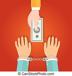 buy freedom concept represent with hand holding money and...