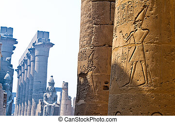 Egypt, Luxor, Amun Temple of Luxor. - Africa, Egypt, Luxor,...