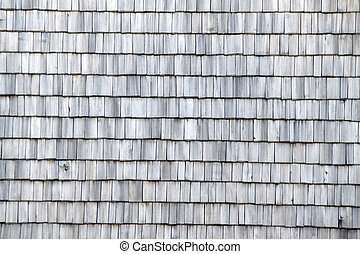 House roof with old shingles - House roof with old shingle...
