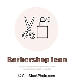 Linear barbershop icons set Universal hairstyle icon to use...