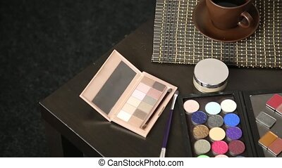 Accessories for make-up prepared for a work