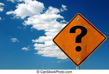 Where to Go - Street sign with a question mark