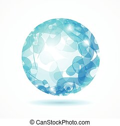 Abstract Sphere Blue. Vector