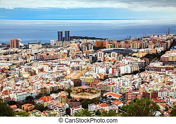 Santa Cruz de Tenerife - aerial view of Santa Cruz de...
