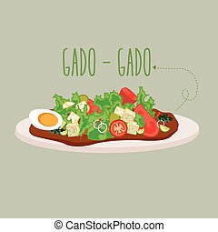gadogado Indonesia traditional salad food cuisine -...