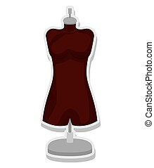 female mannequin isolated icon