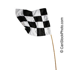 Checkered Flag isolated on the white