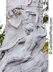 Austria, Vienna, Johann Strauss monument