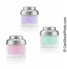 Cosmetics cream bottles