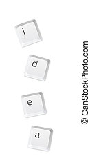 Computer buttons in write word and quot;idea and quot; -...
