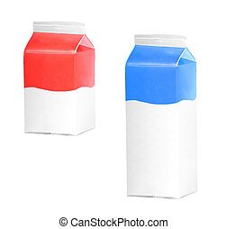 milk or juice carton boxes