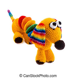 knitted toy-dog