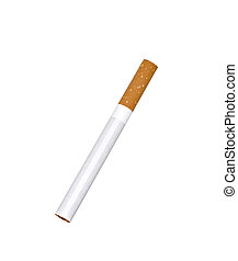 single unlit cigarette isolated