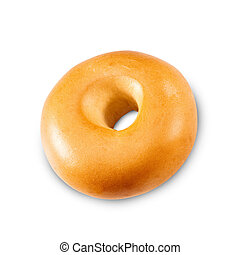 Fresh Bagel Isolated on a White Background