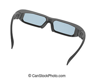 Grey glasses isolated on white